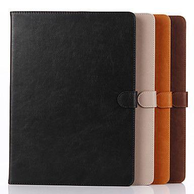 12,9 tommers ekte skinn mønster høy kvalitet lommebok sak for ipad pro (assorterte farger) - NOK kr. 271