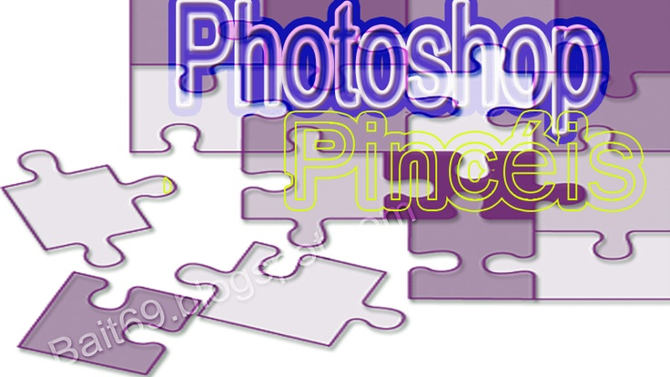 Pincéis para photoshop de peças de puzzle | Bait69blogspot