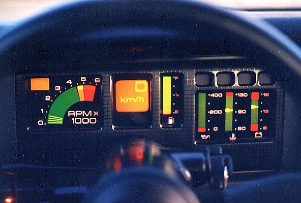 Geez, look at all them lights! 1987 Pontiac Trans Am GTA digital dash