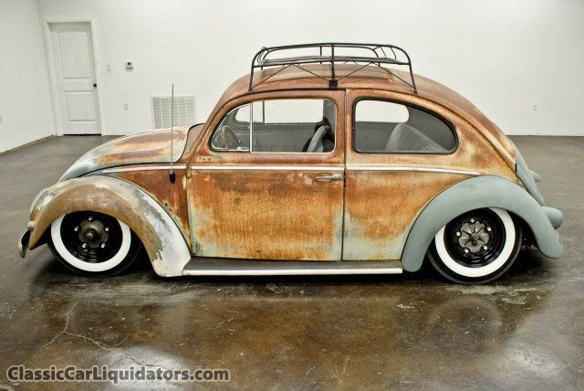 1957 Beetle I would leave the body just like it is but I would put a rightist…