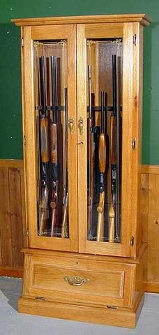 oak 8 gun cabinet