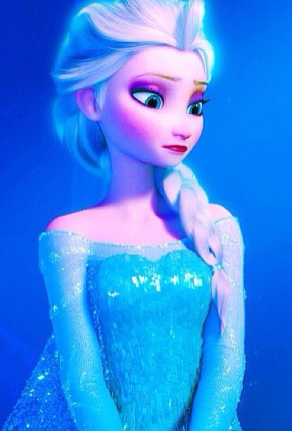 Okay, I have a little theory going on. I watched Frozen yesterday, and I don't know if it was just my failing eyesight, but does Elsa's eye and lip makeup get darker throughout the movie? I think that the more pressure and fear that she feels, the darker everything gets. I think it continues darkening until Anna unfreezes.