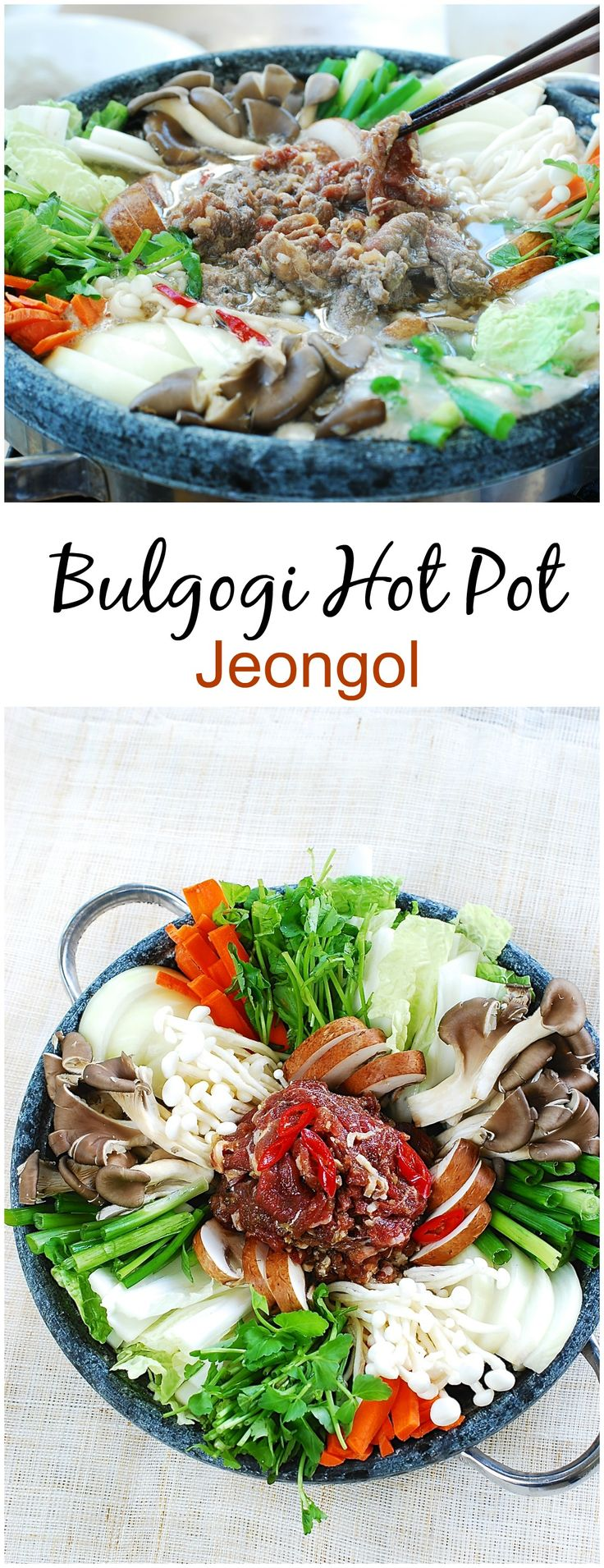 Sweet and savory bulgogi in a hot pot - perfect comfort food for the cool weather!