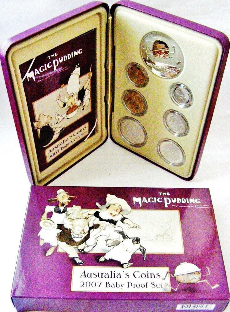 Australia 2007 Magic Pudding Baby Proof Coin Collection + Silver 92.5% Plaque