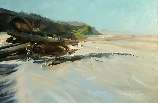 Chad Barksdale - BeverlyBeach- Oil - Painting entry - October 2016 | BoldBrush Painting Competition