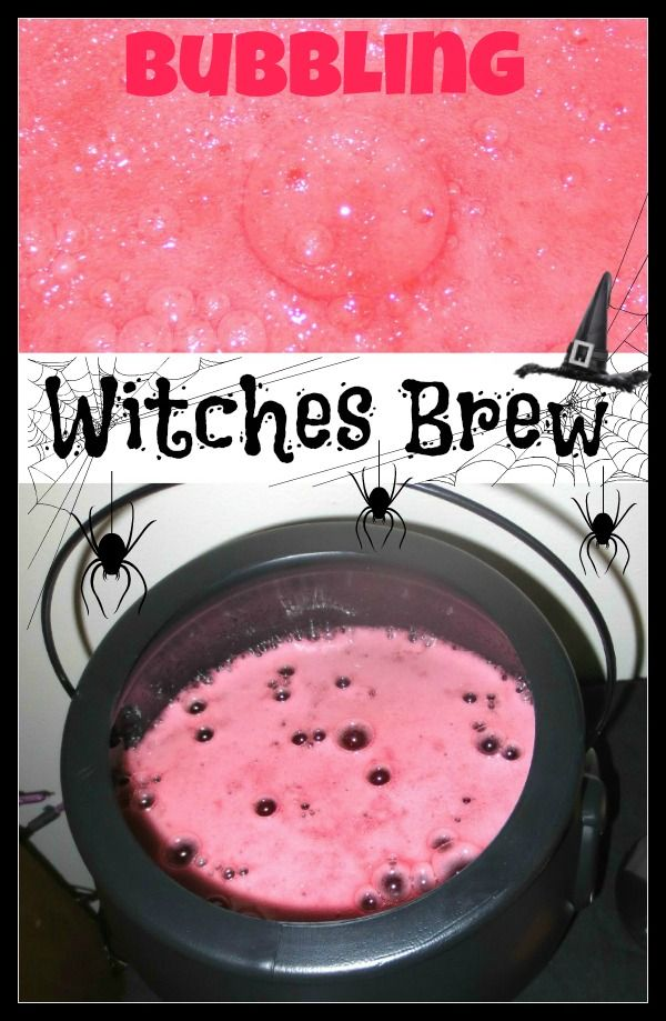 Bubbling witches brew- a fun Halloween party beverage