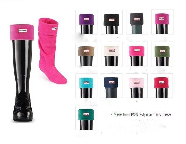 WORLDWIDE FREE SHIPPING HUNTER Women Fleece Rain Boots Socks in 13 Colors  Priced at $19.99