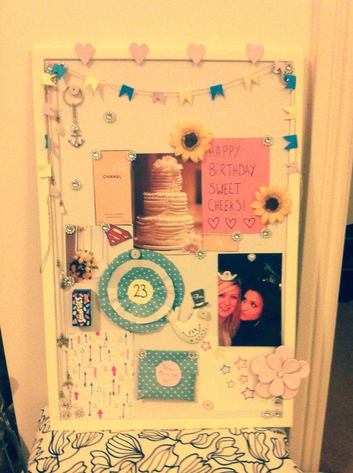 Birthday pin board for my girly :)