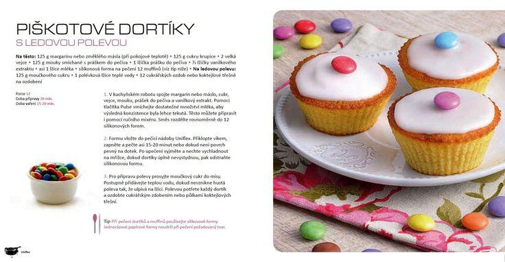 Piškotové dortíky s polevou, recept Tefal Uniflex