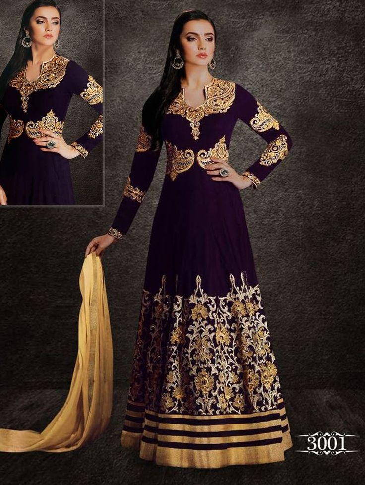 Pakistani Anarkali Bollywood Indian Designer Kameez Suit Ethnic Salwar Dress New #TanishiFashion