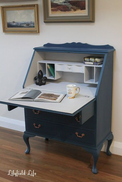 Lilyfield Life: Layered Sapphire Blue French Style Secretaire