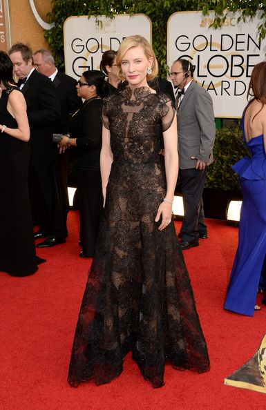 Cate Blanchett in Armani at the Golden Globes