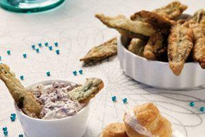 Salie-fritots met olijvendip - foodies