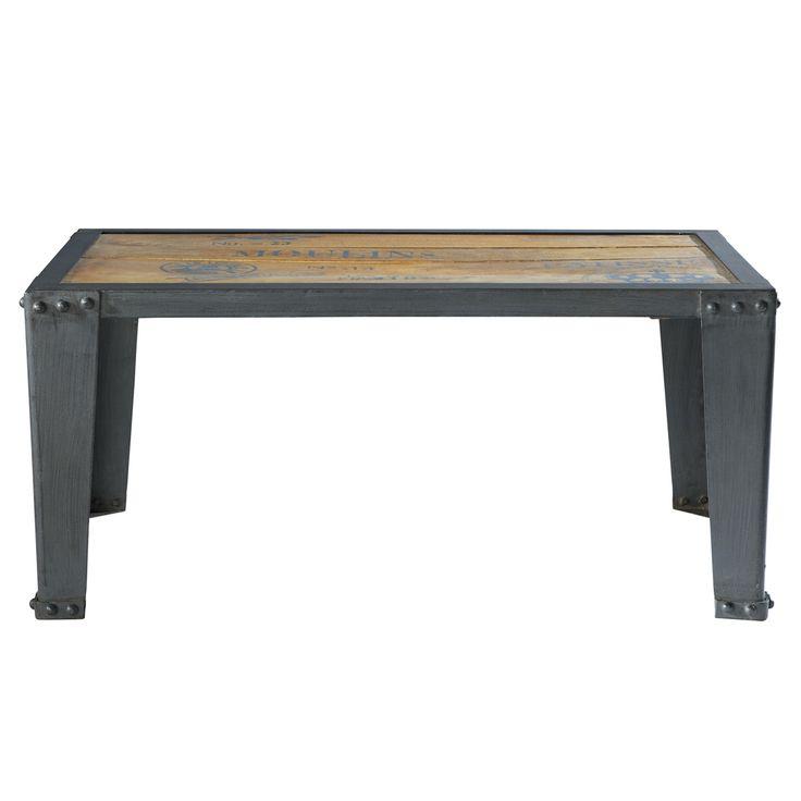 Tavolo basso in massello di mango e metallo L 105 cm Manufacture