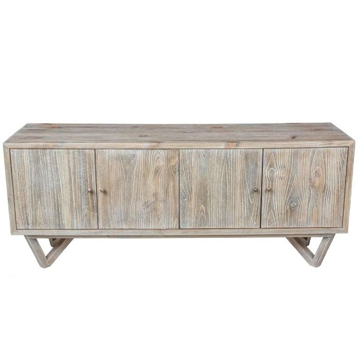 Modern Low Sideboard in Pine | See more antique and modern Cabinets at https://www.1stdibs.com/furniture/storage-case-pieces/cabinets