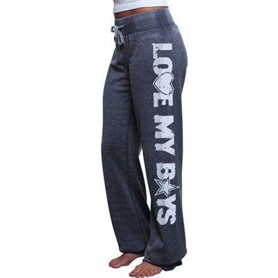 #Fanatics Dallas Cowboys Ladies Suzie Heathered Fleece Pants - Navy Blue