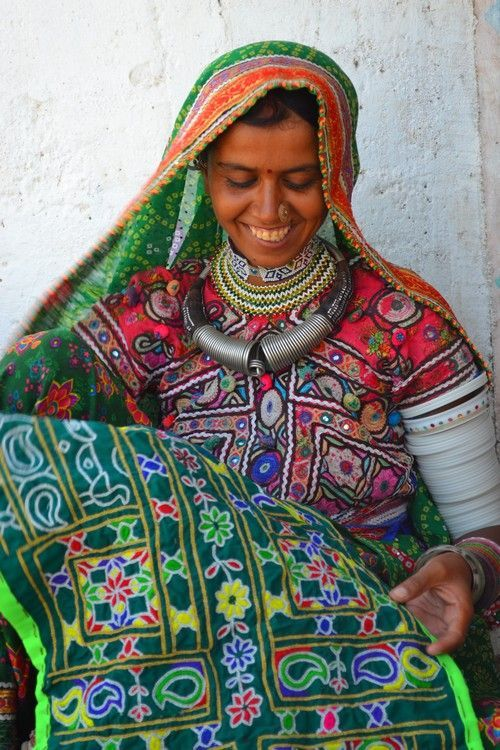 Women Artisans in Hodka Village, Gujarat, India.