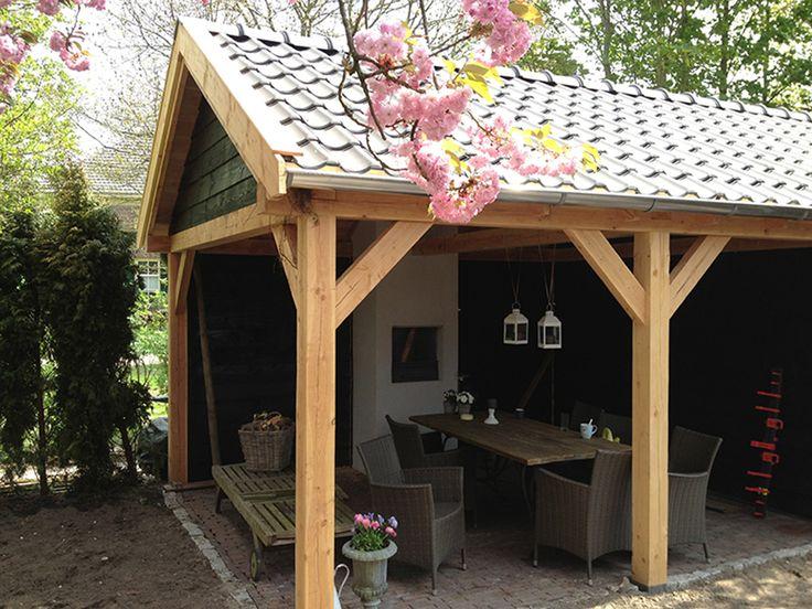 17 beste afbeeldingen over kapschuur op pinterest tuinen veranda 39 s en buitenleven - Veranda met dakpan ...