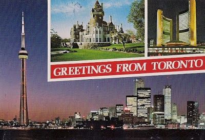 Toronto - a great city to visit: skyline with CN Tower, Casa Loma, City Hall