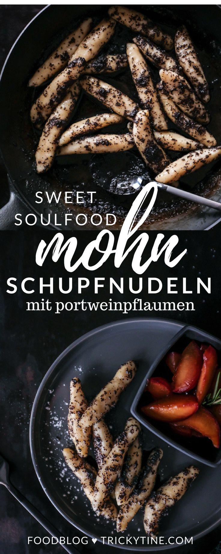 süße schupfnudeln mit mohnbutter & portweinpflaumen ♥ trickytine.com