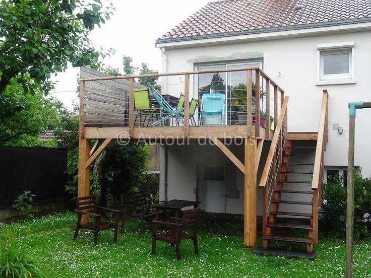 Les 25 meilleures id es de la cat gorie terrasse bois sur pilotis sur pintere - Extension terrasse sur pilotis ...