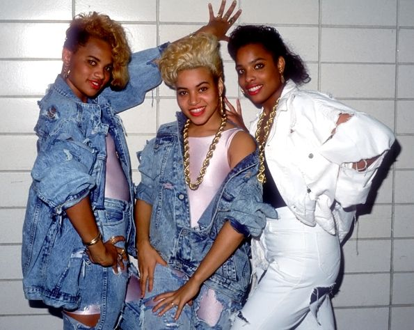 Salt 'N Pepa & Spinderella (1988) to think they started a trend....we been rocking shaved sides, different clothes. African American Culture