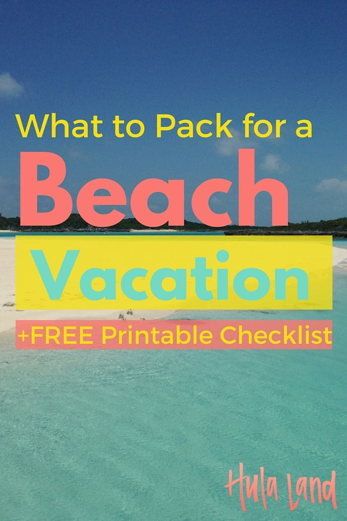 Click through to download the ultimate beach packing checklist…here's what to pack for the beach!
