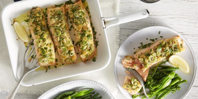 I Quit Sugar: Salmon with Lemon, Olive and Parmesan Crust by Cobram