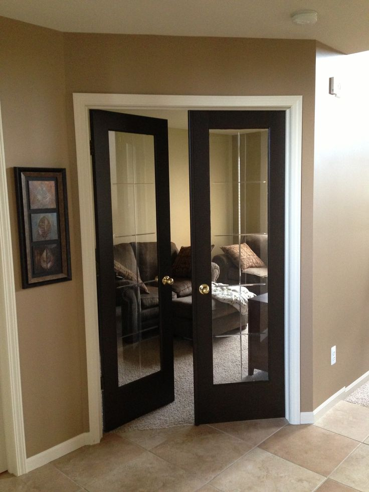 Home Dark Brown Paint On French Doors For The Home