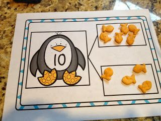 Penguin Math Mats - K.OA.4 For numbers 1-9 find the number that makes 10 when added to that given number.