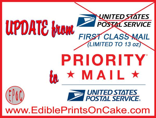 Update from First Class Shipping to Priority Shipping