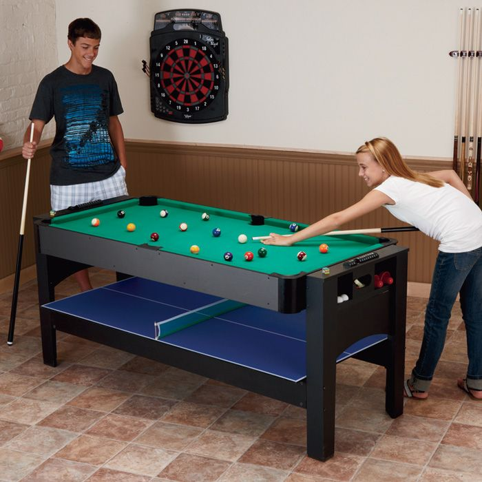 Pool Air Hockey Ping Pong Table Pool Flips Over To Air Hockey
