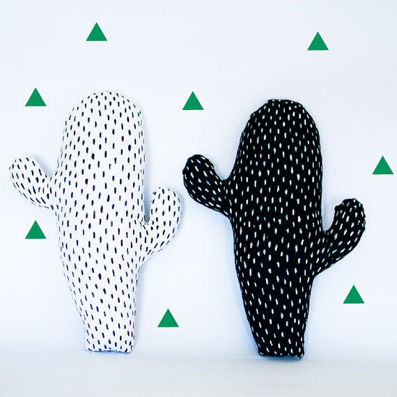 Cactus Pillows by thetickledpinkfox on Etsy