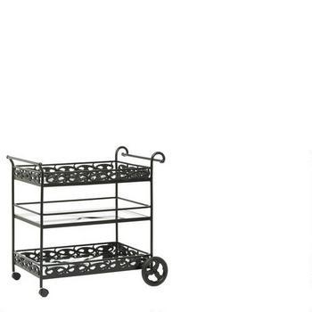 3 tier outdoor serving cart
