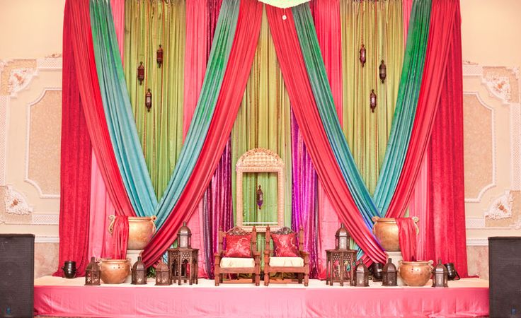 Indian wedding stage...wow! Different colors are preferred though...