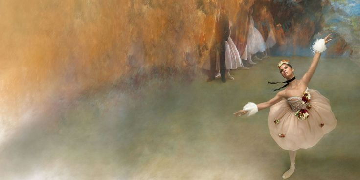 This is incredible // Misty Copeland channels artist Edgar Degas's most famous ballet works