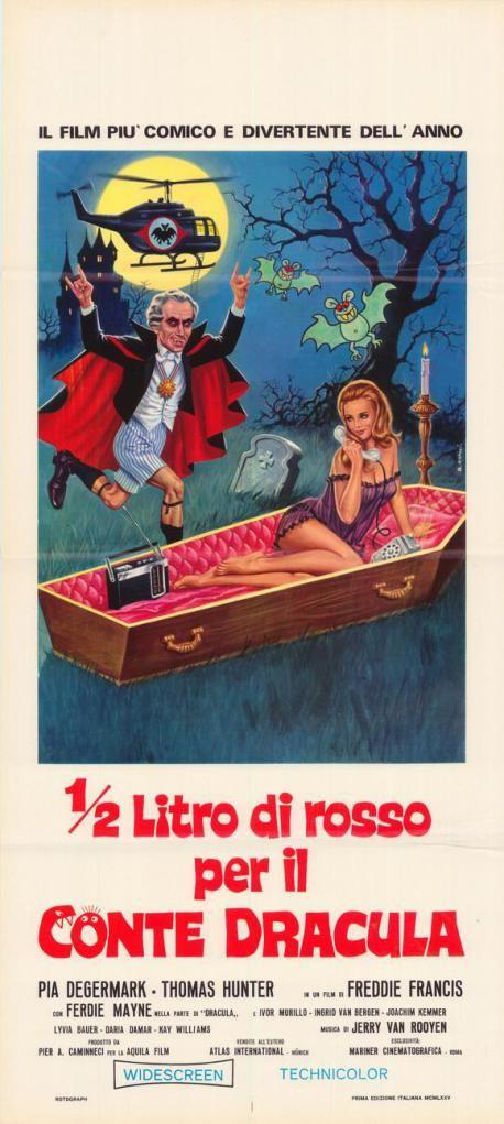 The Vampire Happening (1971) W. Ger. / Austria Horror comedy. D: Freddie Francis. Orig. title: Gebissen wird nur nachts. Italian poster. Pia Degermark, Ferdy Mayne. (1/10) 10/03/15