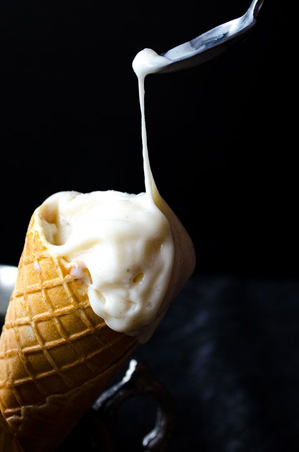 Elastic Turkish Ice Cream. It has a chewy and elastic texture and an aromatic flavor. Definitely addictive! No ice cream maker is required in this recipe