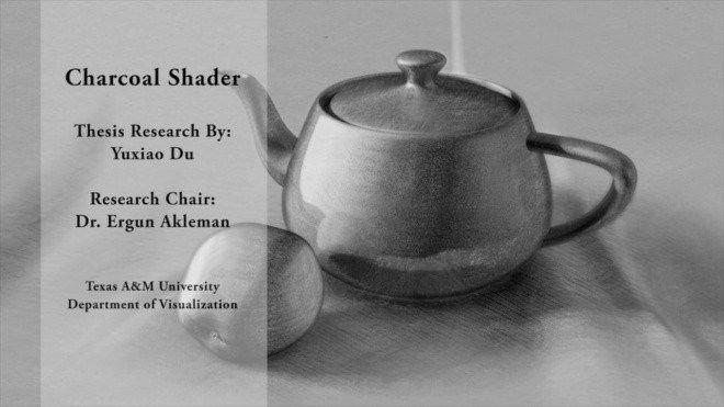 Charcoal Shader - テキサスA&M大学のCGアーティストYuxiao Du氏による木炭デッサン風のシェーダー映像!