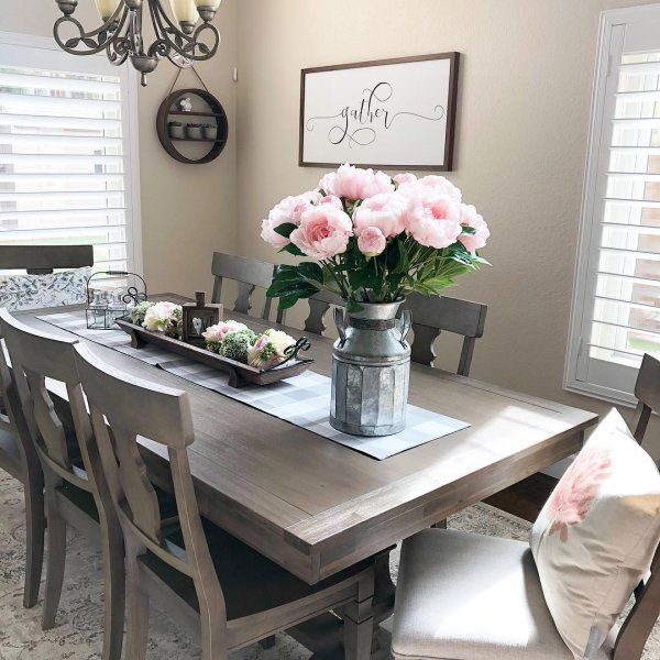 Bradding Shadow Gray 84 Dining Table Pier 1 Farmhouse Dining Rooms Decor Dining Room Table Decor Farmhouse Dining Room Table