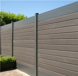 Tuinafscheiding.nl - Tuinafscheiding gemaakt van aluminium tuinpalen gecombineerd met aluminium en composiet planken