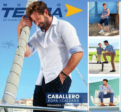 catalogo terra primavera verano 2017 caballero. moda de hombres en zapatos y ropa