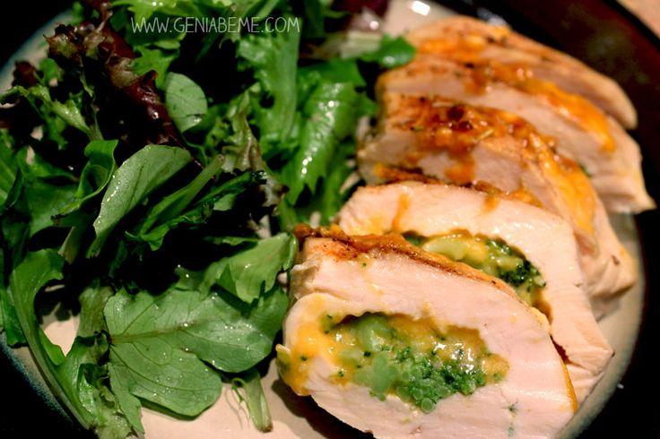 21 Day Fix Broccoli and Cheese Stuffed Chicken Recipe | geniabeme beauty & lifestyle
