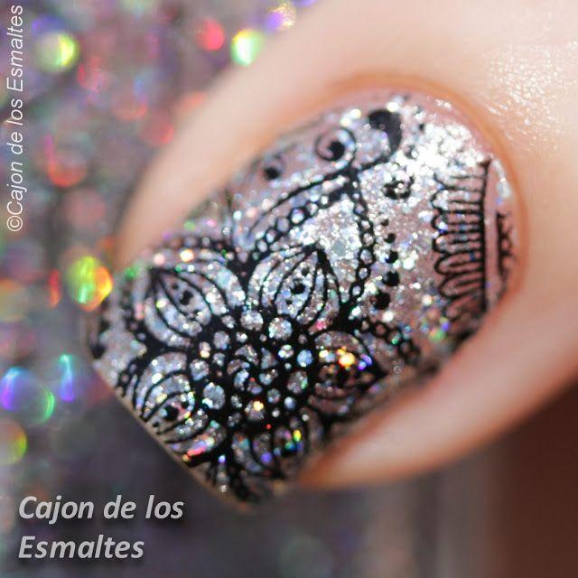 Bundle monster - Shangrila -  BM-S105: Amrita  Floral nail art holographic Avon Crystal Sand Hologram