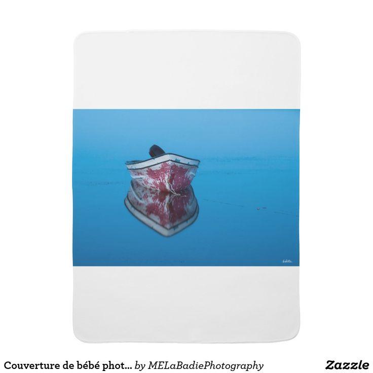 Couverture de bébé photo d'une barque sur l'eau