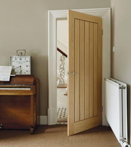 Howdens Dordogne Oak - VE option internal oak veneer door