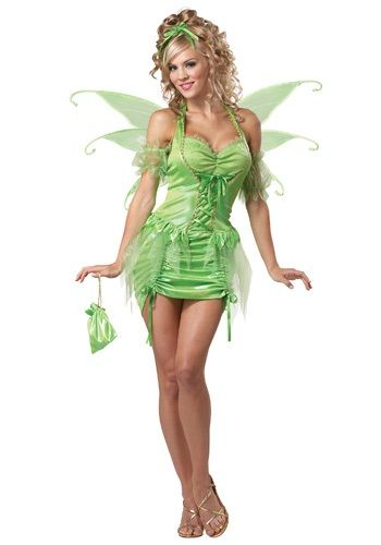 Fly away as a Disney fairy in this Womens Tinkerbell Fairy Costume, and feel the Halloween magic!