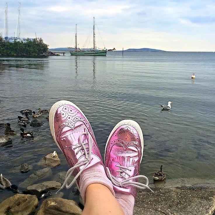 Pink Metallic Brogues - Tru' Lavina