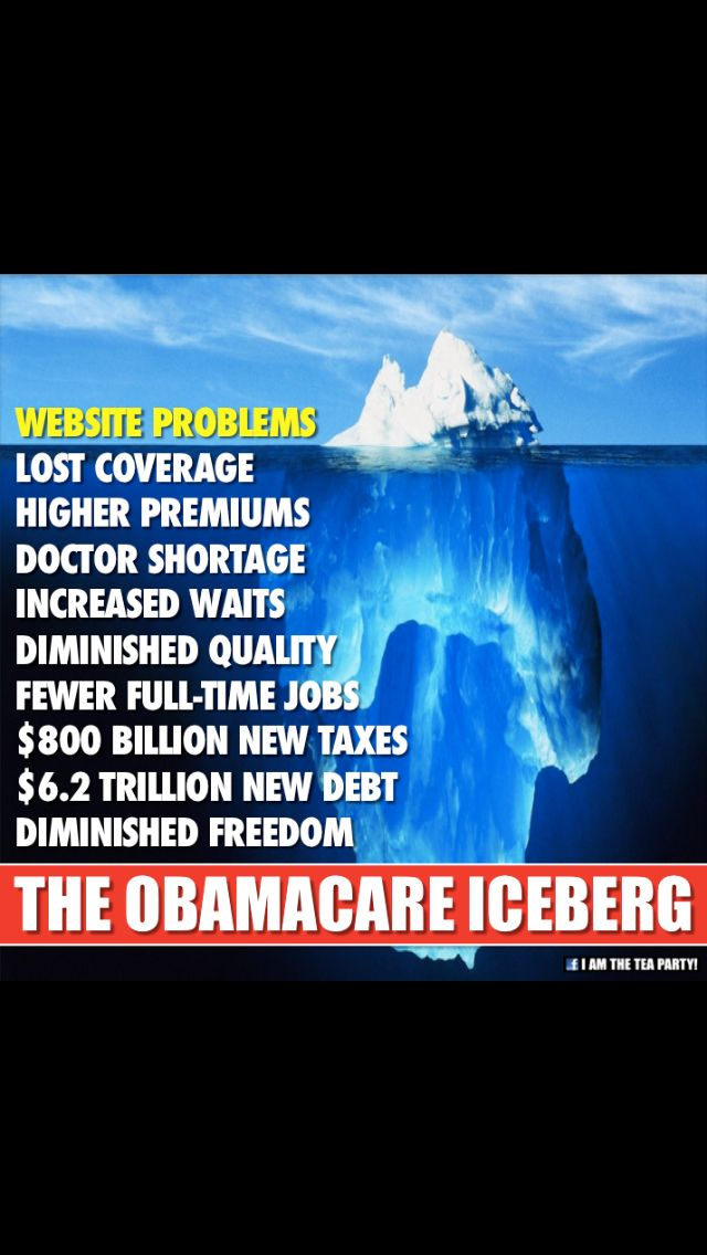 Obamacare Truth, as with an iceberg, it's the part you can't see that will ruin this country!