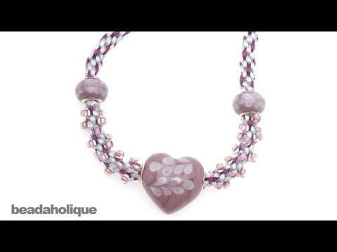 How to Add a Pandora Style Bead to Beaded Kumihimo